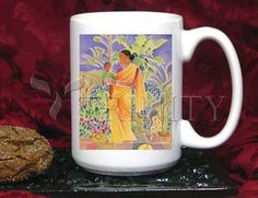 Coffee-Tea Mug (15 oz) - Garden Madonna by M. McGrath   Trinity Stores