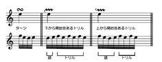 バッハの装飾音表2