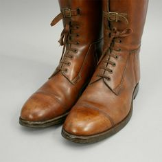 Leather Field Riding boots from 1930.