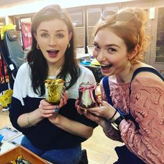 "Aisling Bea on Instagram: ""Myself & my flame haired beauty @eleanortomlinson went on a LADZ LADZ LADZ candle making workshop today. I never make the time to do…"""