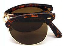 Nuevos Hombres de la Moda Plegable Reflectante gafas de Sol Mujeres Diseñador de la Marca Gafas de Sol de Color