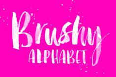 "Brushy Alphabet Are you wanting to have the complete ""custom"" feel to your project? Do you want a hand illustrated style that expresses fine details that you just can't get in a font? Look"
