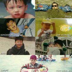 Jin tan bello♡ Yoongi con su swag desde niño  Jungkook awww Namjoon tan cute Jimin adasdasdas ♡♡ V tan pequeñito aww  Jhopeeeeee!!!!!