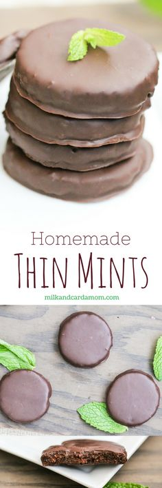 Use leftover chocolate cake to make these easy Homemade Girl Scout Cookie Thin Mints!
