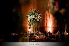 Lovely setup at this #amber #uplighting #wedding #reception! #diy #diywedding #weddingideas #weddinginspiration #ideas #inspiration #rentmywedding #celebration #weddingreception #party #weddingplanner #event #planning #dreamwedding by @linandjirsa