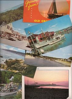 vintage Maine postcards