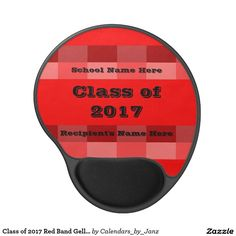Class of 2017 Red Band Gell Mousepad by Janz Gel Mouse Pad