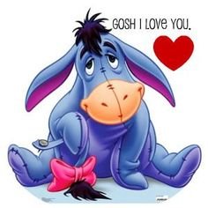 I love Eeyore! Cute Winnie The Pooh, Winnie The Pooh Quotes, Winnie The Pooh Friends, Eeyore Pictures, Funny Pictures, Pooh Bear, Tigger, Eeyore Tattoo, Eeyore Quotes