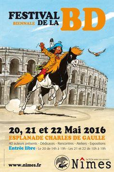Festival de Nîmes, trois jours en mai sous le parrainage de Derib http://www.ligneclaire.info/nimes-2016-37451.html