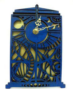 Doctor Who Timey Wimey Tardis Wall Clock by UnicornEmpirePrints, $46.00