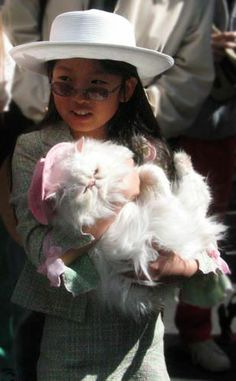 Easter Parade and Easter Bonnet Festival: Girl & Cat Dressed for Easter Cat Dresses, Easter Parade, Easter Dress, Cowboy Hats, Nyc, Easter Events, Cats, Board, Inspiration