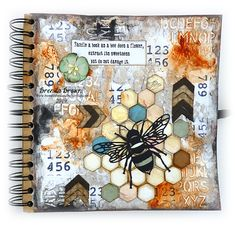 Bumblebees and Butterflies: Bee journal page Art Journal Pages, Art Journals, Junk Journal, Visual Journals, Journal Covers, Bullet Journal, Mixed Media Journal, Mixed Media Canvas, Gcse Art Sketchbook
