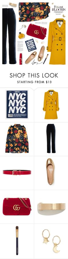 """winter prints: dark florals"" by jesuisunlapin ❤ liked on Polyvore featuring Burberry, Mother of Pearl, Alberta Ferretti, Lovers + Friends, Chloé, Gucci, Madewell, Estée Lauder and Britt Bolton"