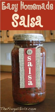 Easy Homemade Salsa Recipe from TheFrugalGirls.com