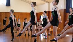 The Highland Dance Company of New Zealand rehearsing for Journey of the Celts.