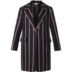 Elizabeth and James Striped Iris Boyfriend Coat as seen on Amber Heard