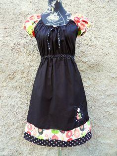 Tunika Kleid Hänger Bluse Apfel Apple von Zellmann Fashion auf DaWanda.com