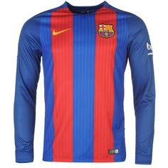 Nike | Nike Barcelona Long Sleeve Home Shirt 2016 2017 Mens | Football Replica Shirts