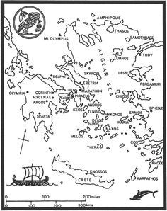 ancient greece map for coloring