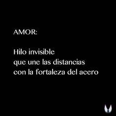 Amor: Hilo invisible que une las distancias con la fortaleza del acero…