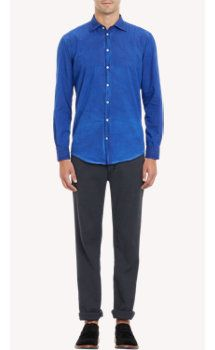 Massimo Alba Overdyed Cotton Shirt