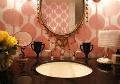 mid century modern art pink - - Yahoo Image Search Results