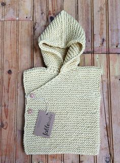 Hand Knitted Organic Cotton Chunky Hoodie Vest in YELLOW / MEDIUM
