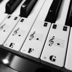 Klavier-Tastatur (88 Tasten) Hinweis Aufkleber 52 weißen Tasten mit Guide - Handmade für Kid Hallo Mütter und Väter! Hat Ihr Kind Schwierigkeiten beim Klavier lernen? BuBu-Baby bietet ein Angebot für jedes Ihrer Kinder zu Musik Note leicht auf dem Klavier zu lernen! Wir Maufature die