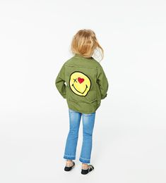 ZARA - KIDS - PARKA WITH SMILEY FACE PATCHES
