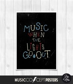 The Libertines  Music when the lights go by MusicConceptPosters on etsy