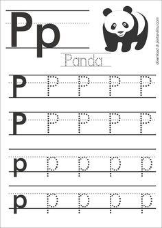 p Free Printable Alphabet Worksheets, Letter Worksheets For Preschool, Writing Practice Worksheets, English Worksheets For Kids, Grade R Worksheets, Preschool Letters, Letter P Activities, Kindergarten Writing Activities, Alphabet Writing