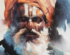Watercolour Paintings By Rajkumar sthabathy (Part - II) on Behance Human Painting, Watercolor Portrait Painting, Watercolor Art Face, Rose Oil Painting, Black Art Painting, Portrait Art, Indian Art Gallery, Illustration Art Drawing, Indian Illustration