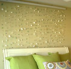 How beautiful would it be to make something like this for a guest room or a main living space? Sea Glass Art, 400 Piece, Genuine Seaglass, Sea Shell and Glass Bead Wall Hanging, Beach Home Decor Glass Wall Art, Sea Glass Art, Glass Beach, Seashell Crafts, Beach Crafts, My New Room, Inspired Homes, Beach Themes, Coastal Decor