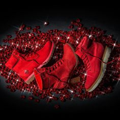 Introducing the Ruby Red Collection - made exclusively for women, and just about as uncommon as the gemstone by which its inspired. Get a pair while you can, these rare boots won't last long. Sneaker Games, Fab Shoes, Ruby Red, Timberland Boots, Combat Boots, Gemstones, Collection, Timberlands, Inspired