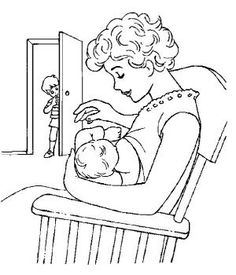 coloring page Baby - Baby by leigh