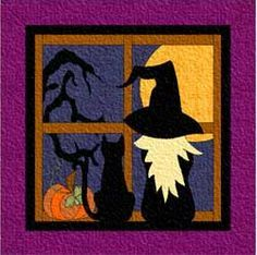 free witch hat quilt pattern - Google Search