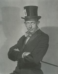 """William Mortensen, self-portrait (as a kind of """"Mad Hatter magician"""")"""