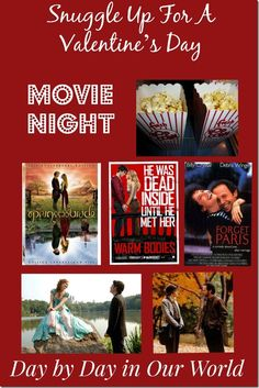 Snuggle Up For A Valentine s Day Movie Night Snuggle Up For A Valentine s Day Movie Night LauraOinAK Day by Day in Our World lauraoinak Entertainment Movies 038 nbsp hellip day gifts for him movie night Valentines Movies, Valentine Poster, Valentines Day Treats, Valentine Day Love, Valentine Day Crafts, Day For Night, Game Night, Family Movie Night, Romance Movies