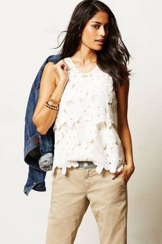 Layered Lace Tank - anthropologie.com. cute with shorts or a skirt!
