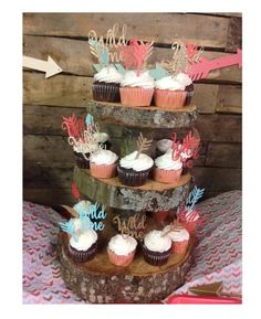 Wild One Birthday Cake Topper First Birthday Tribal by CleverOwlz