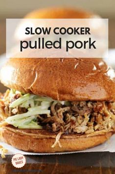 The Best BBQ Pulled Pork from Your Slow Cooker We love slow cooker pulled pork sandwiches! An easy family supper that feeds a crowd or perfect for a busy weekend! Best Bbq Recipes, Potluck Recipes, Pork Recipes, Best Slow Cooker, Slow Cooker Recipes, Pork Sandwich, Sandwiches, Pulled Pork Seasoning, Best Pulled Pork Recipe