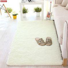 Missinterest Long Plush Anti-Slip Soft Mat For Home Living Room Bedroom Shaggy Thicken Floor Kids Carpets Door Mat Rug Tapete