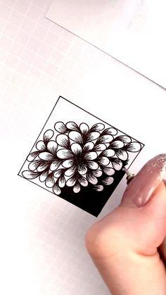 Flower Art Drawing, Feather Drawing, Mandala Drawing, Zentangle Drawings, Zentangle Patterns, Zentangles, Pencil Drawings, Art Drawings, Mandala Art Lesson