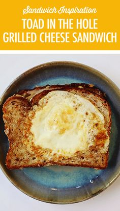 Combine two classic favourites into one with this Grilled Cheese Toad in the Hole Sandwich. Best Junk Food, Junk Food Snacks, Vegan Cheese Recipes, Snack Recipes, Canadian Cheese, Toad In The Hole, Healthy Snacks To Buy, Best Grilled Cheese, Apples And Cheese