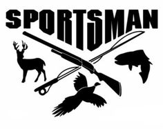 Sportsman decal for car decal, outdoor decal sport and hunting decal for car truck sticker, outdoor sports decals vinyl decal