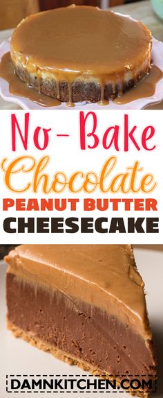 video cake decorating ideas No-Bake Chocolate Peanut Butter Cheesecake