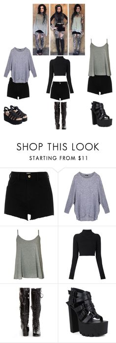 """""""Ryan Ashley Malarkey inspired outfits"""" by mackenna-1 ❤ liked on Polyvore featuring River Island, WearAll, Balmain and Fahrenheit"""