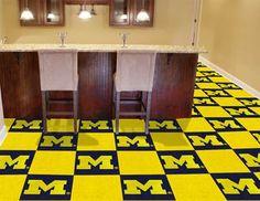 Michigan Wolverines Carpet Tiles