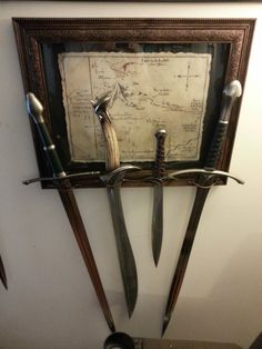 I'm re-doing mine, and need some creative inspiration. O Hobbit, Hobbit Hole, Lord Of Rings, Lotr Swords, Concerning Hobbits, Jrr Tolkien, Displaying Collections, One Ring, Geek Out