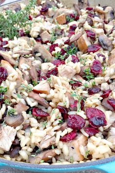 Turkey Mushroom Cranberry Risotto